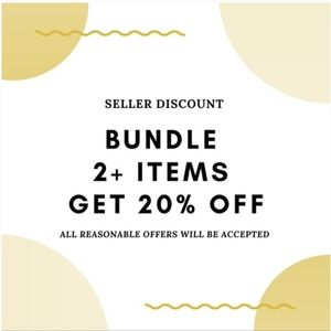 Bundle 2+ items automatically get 20% off